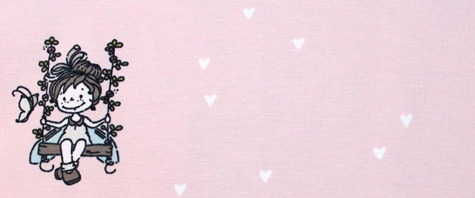 Biojersey Swing rosa mit Herzen